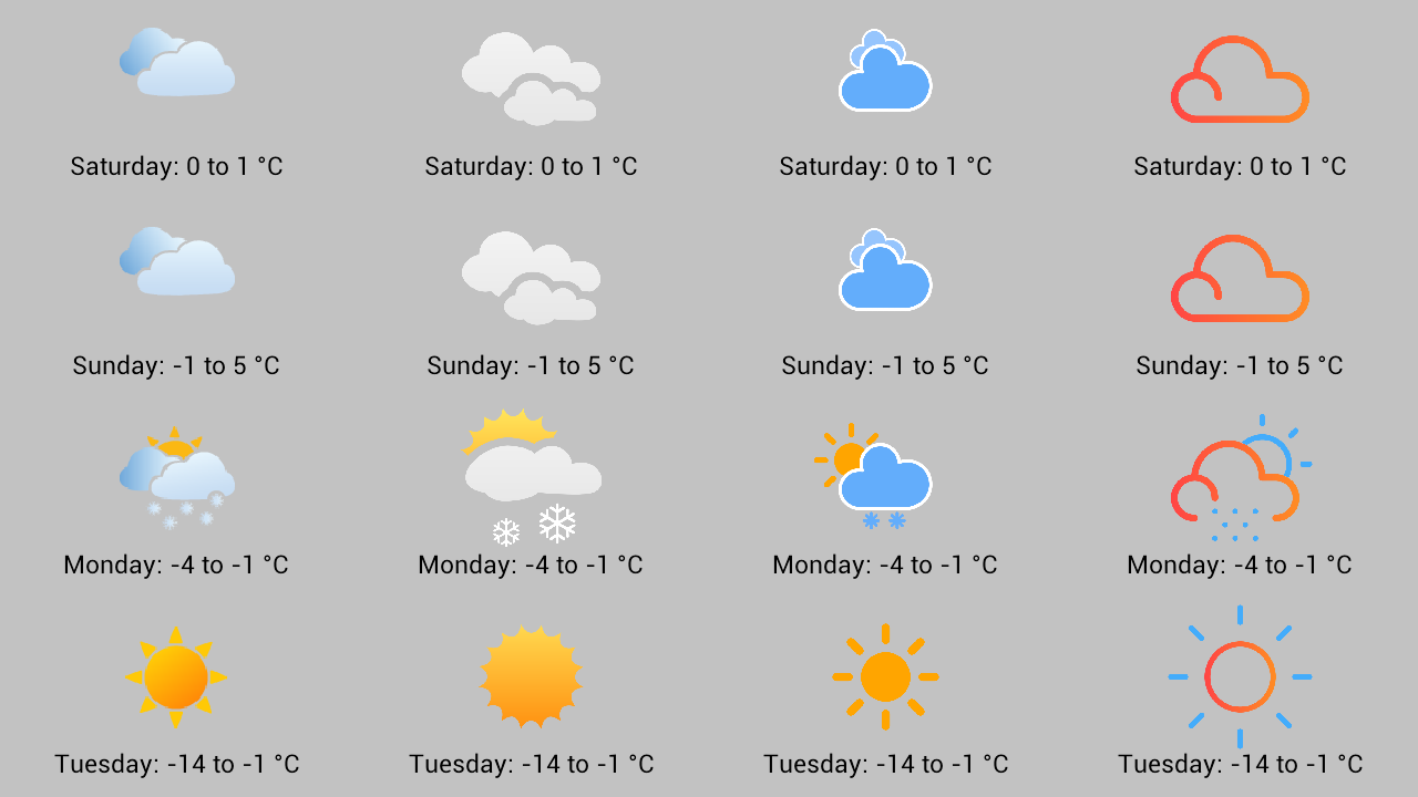 Available weather icon styles